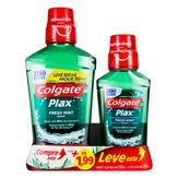 Kit Enxaguante Bucal Zero Álcool Fresh Mint Colgate Plax Leve 500ml Pague 350ml + 1 Unidade Similar de 250ml
