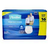 Roupa Íntima Descartável Unissex Protect Plus G/XG Plenitud Pacote com 16 Unidades Embalagem Econômica