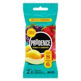 Preservativo Masculino Lubrificado Prudence Cores e Sabores Pacote Leve 8 Pague 6 Unidades
