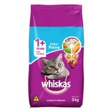 Alimento para Gatos Adultos 1+ Peixe Whiskas Pacote 3kg