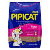 Areia Higiênica para Gatos Floral Pipicat Pacote 4kg