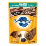 Alimento para Cães Adultos Raças Pequenas Cordeiro ao Molho Pedigree Sachê 100g