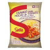 Frango com Molho de Tomate, Creme de Milho e Arroz com Cenoura Sadia Pacote 350g