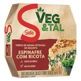 Torta de Espinafre com Ricota Congelada Veg & Tal Sadia Caixa 500g