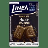 Chocolate Meio Amargo 50% Cacau Zero Açúcar Linea Caixa 30g