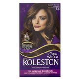 Kit Coloração Creme 54 Castanho Dourado Acobreado Koleston Wella