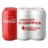 Refrigerante Coca-Cola Lata 6 Unidades 350ml Cada Embalagem Econômica