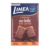 Barra de Chocolate Ao Leite Zero Lactose e Sem Açúcar Linea 30g