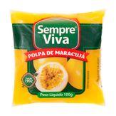 Polpa Congelada de Maracujá Sempre Viva Pacote 100g