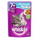 Alimento para Gatos Adultos 7+ Peixe Whiskas Sachê 85g