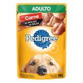 Alimento para Cães Adultos Carne ao Molho Pedigree Sachê 100g