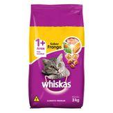 Alimento para Gatos Adultos 1+ Sabor Frango Whiskas Pacote 3kg