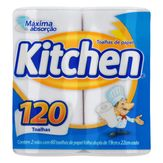 Toalha de Papel Folha Dupla Kitchen Pacote 2 Unidades