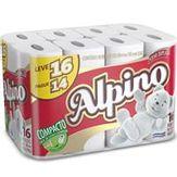 Papel Higiênico Folha Dupla Alpino Pacote com 16 Unidades Leve 16 Pague 14