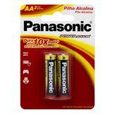 Pilha Alcalina AA Power Alkaline Panasonic Cartela 2 Unidades