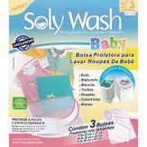 Kit Bolsa Protetora para Lavar Roupas de Bebês Soly Wash Pacote com 3 Unidades