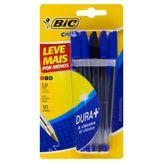 Pack Caneta Esferográfica Azul e Preta 1.0mm Cristal Bic Cartela 10 Unidades Leve Mais por Menos