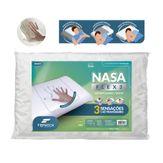 Travesseiro Branco Nasa Flex 3 Fibrasca 50x70cm 1 Unidade