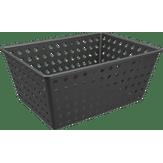 Cesta Organizadora Maxi 39x30x16,8cm Preta One Coza 1 Unidade