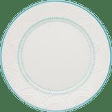 Prato Raso Serena Branco e Azul 26cm Oxford 1 Unidade