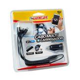 Cabo Multi + Carregador 12v Veicular Luxcar Cartela 2 Peças