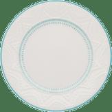 Prato de Sobremesa Serena Branco e Azul 20cm Oxford 1 Unidade