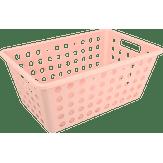 Cesta Organizadora Grande 28,8x19,1x12,3cm Rosa Blush One Coza 1 Unidade