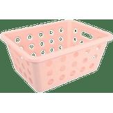 Cesta Organizadora Pequena 18,6x14,2x8,2cm Rosa Bush Coza 1 Unidade