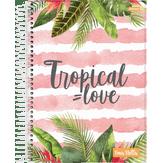 Caderno Universitário Uma Stella Tropical Love 10 Matérias Jandaia 1 Unidade