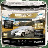 Capa para Cobertura de Automóvel Tamanho M Prata Double-face Gold Plasitap 1 Unidade