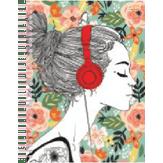 Caderno Universitário Feminino 10 Matérias Bignardi 1 Unidade