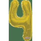 Balão Metalizado Dourado Número 4 Regina 1 Unidade