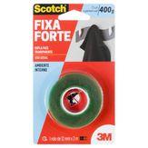 Fita Dupla Face Transparente Fixa Forte Scotch 3M Blister 12mm x 2m 1 Unidade