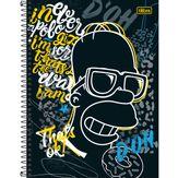 Caderno Capa Dura Universitário Simpsons Sortido Tilibra 1 Matéria 80 Folhas