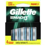 Cartuchos para Barbeador Gillette Mach3 Caixa Leve 4 Pague 3