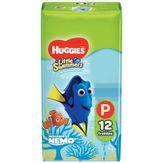 Fralda Descartável Little Swimmers Tamanho P Huggies Pacote 12 Unidades