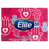 Lenço de Papel Folha Dupla Suave Elite Softy's Caixa 50 Unidades