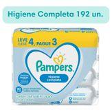 Pack Lenços Umedecidos Higiene Completa Pampers Pacote 4 Unidades 48 Cada Leve 4 Pague 3