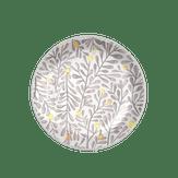 Prato para Sobremesa de Cerâmica Decorado 20cm Garden Corona 1 Unidade