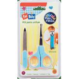 Kit Para Unhas Azul For Baby Pais e Filhos Blister 3 Unidades