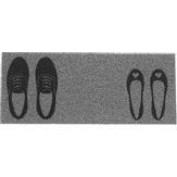 Capacho Long Sapatos Prata 30X70cm Kapazi