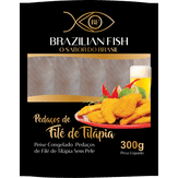 Filé de Tilápia sem Pele Congelado Brazilian Fish Pacote 300g