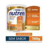 Composto Lácteo Zero Lactose Nutren Senior Nestlé Lata 740g