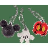 Kit Enfeites Natalinos Sortidos Mickey Mouse Disney 3 Peças