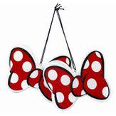 Kit Enfeites Natalinos Laço Minnie Mouse em MDF Disney 2 Peças