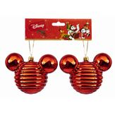Kit Enfeites Natalinos Mickey Mouse Vermelho Disney 2 Peças